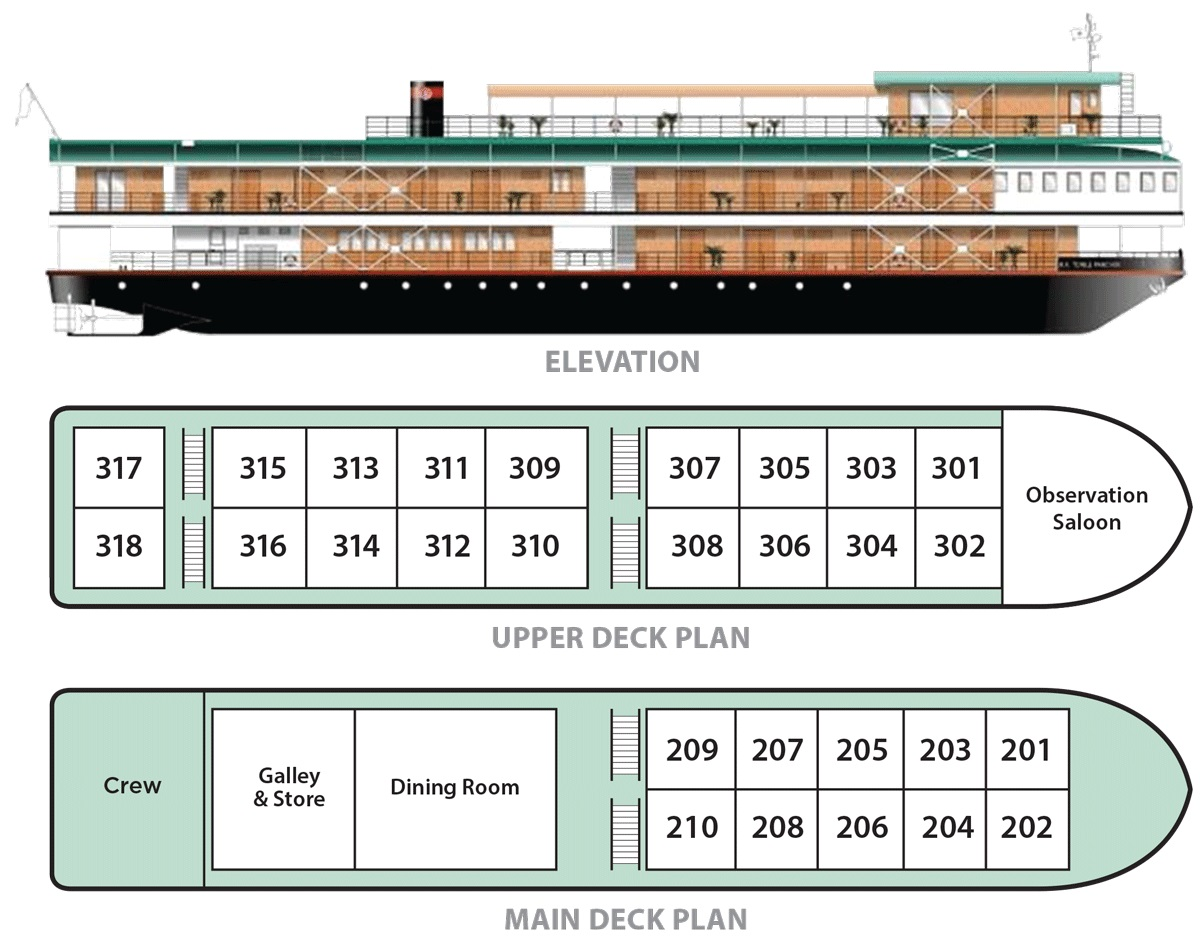 RV Tonle Pandaw - Deck Plan