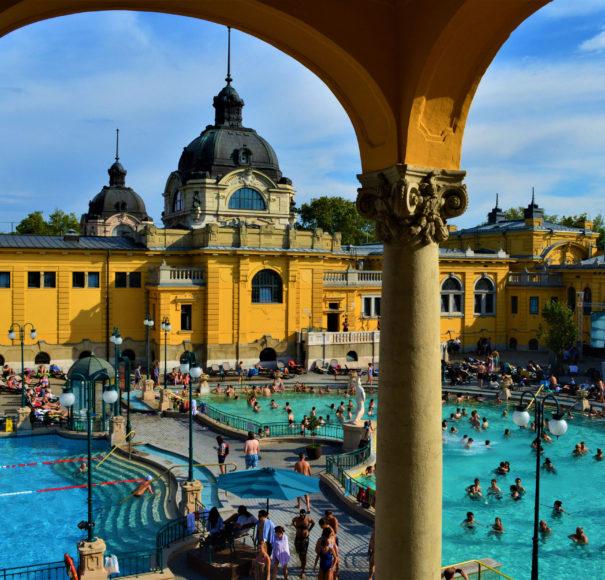 Szechenyi baths, Budapest, Hungary