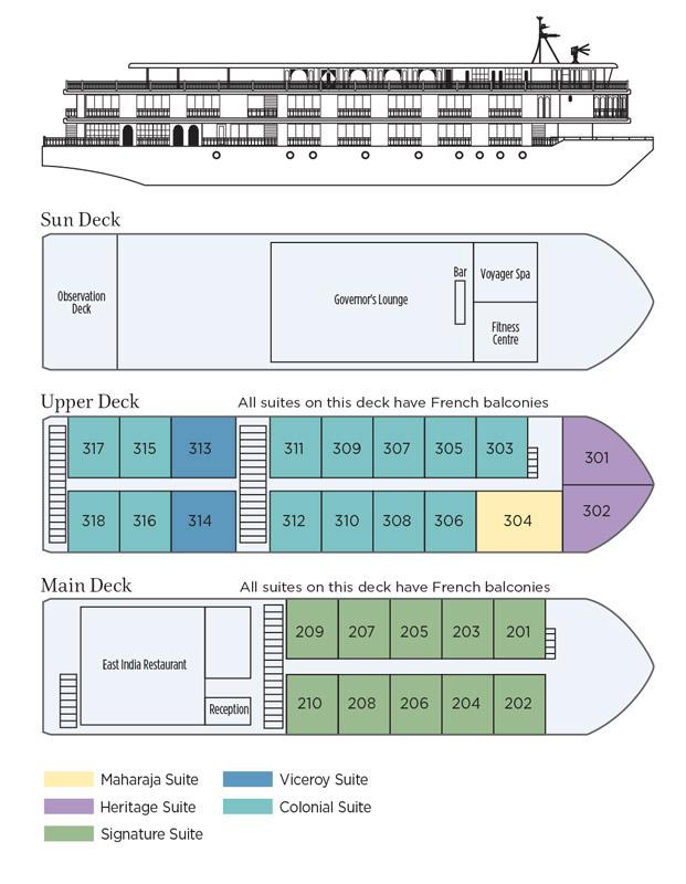 Ganges Voyager II - Deck Plan