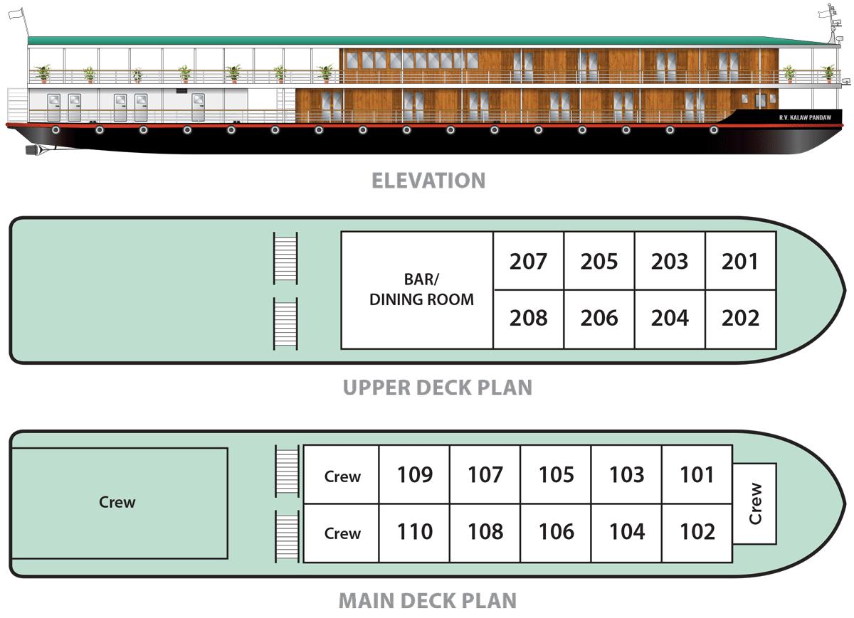 Kalaw Pandaw - Deck Plan