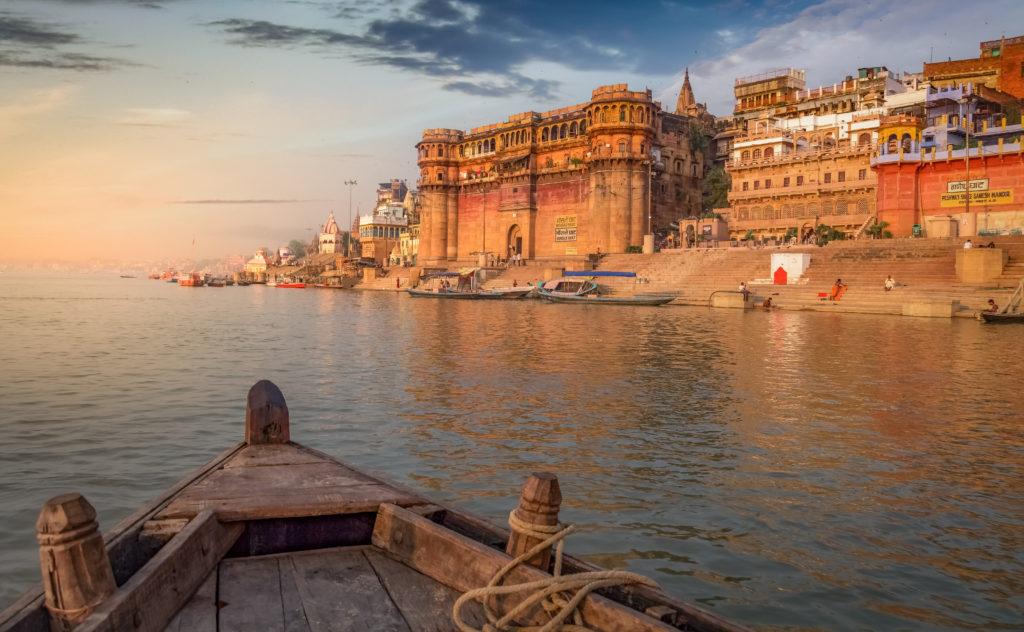 Varanasi Ganges river ghat, India