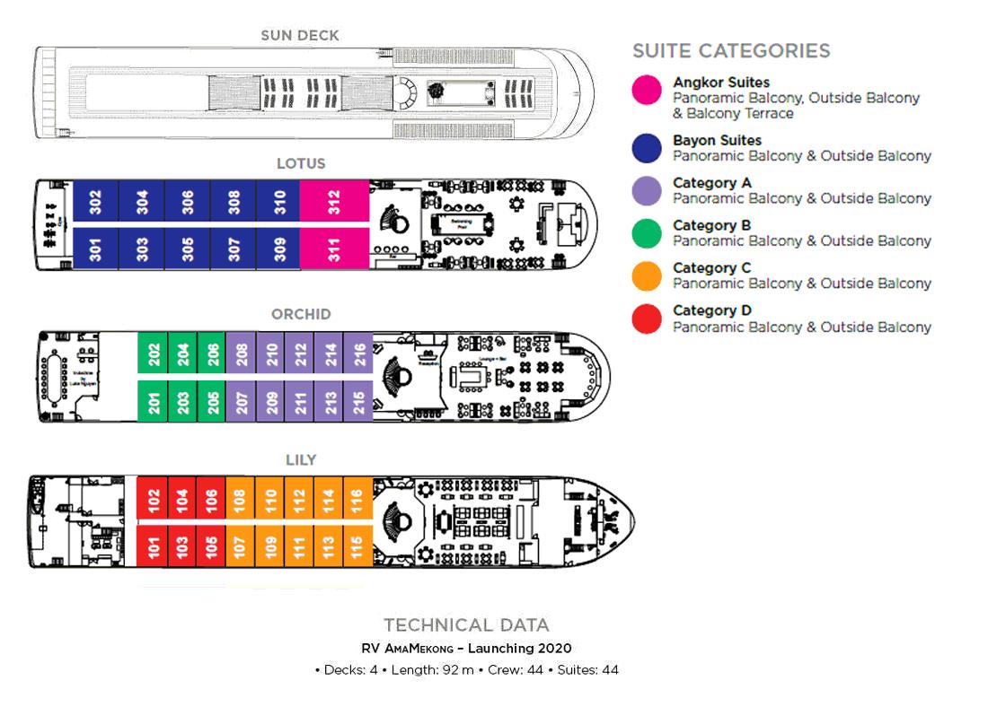 APT AmaMekong - Deck Plan