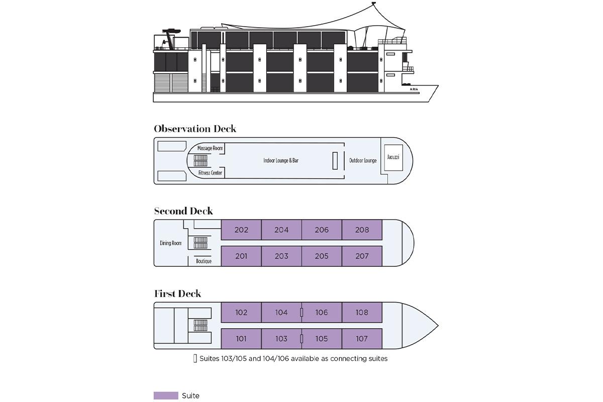 Aria Amazon - Deck Plan