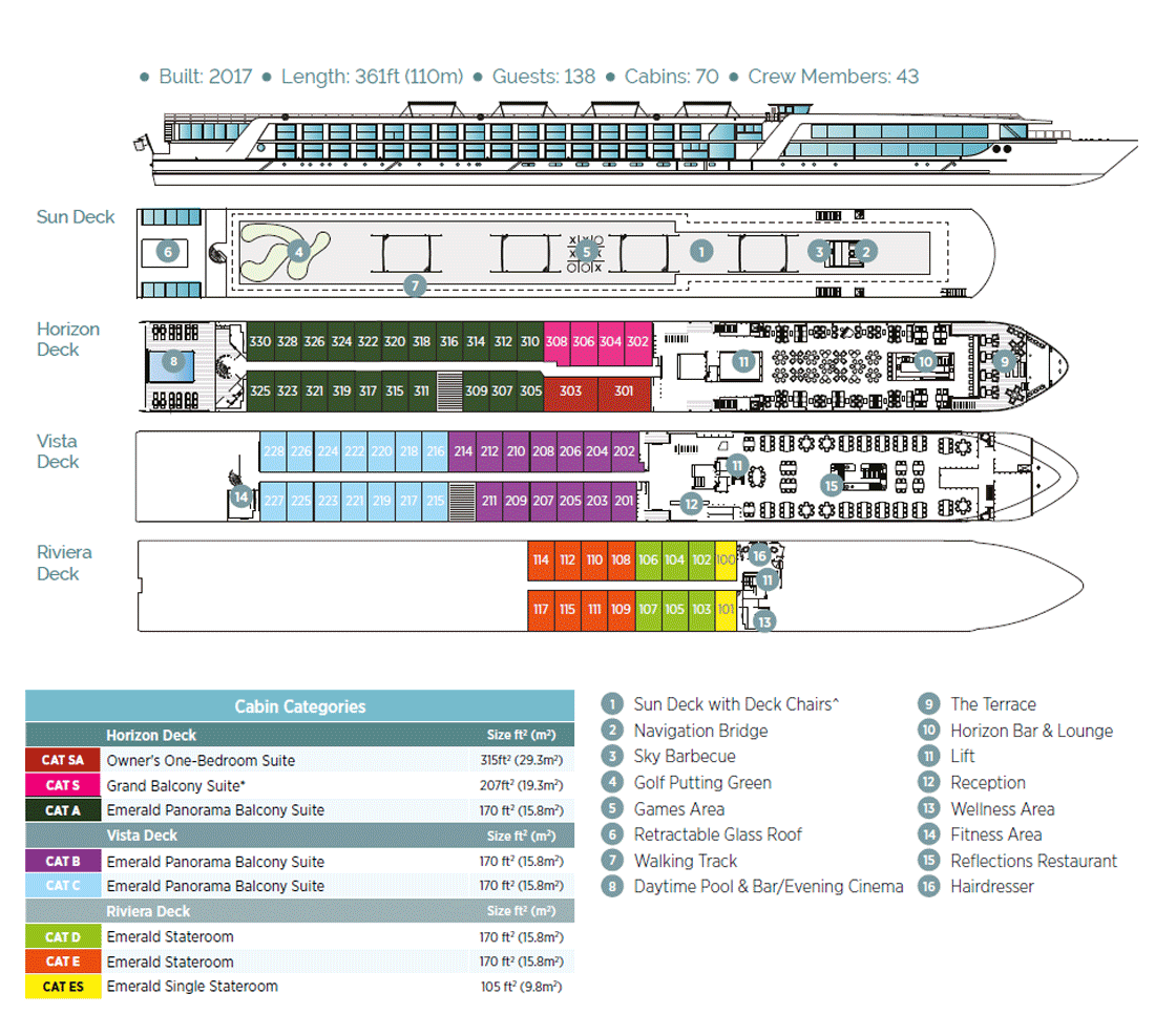 Emerald Liberté - Deck Plan